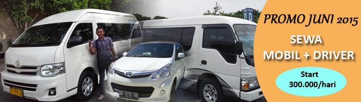 sewa mobil + driver di Bali